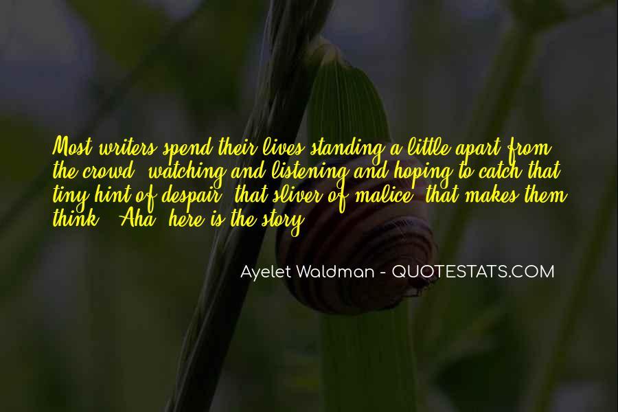 Aha Quotes #495128