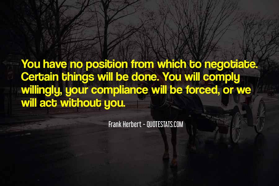 Quotes About Negotiate #401605
