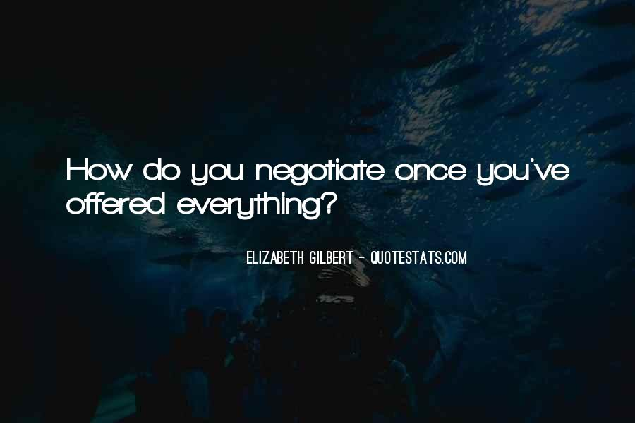 Quotes About Negotiate #523542