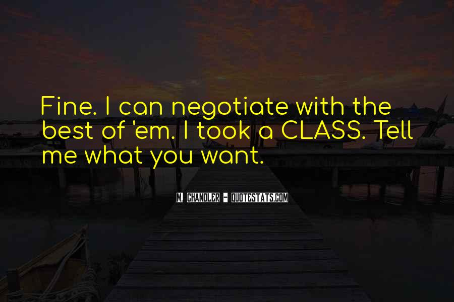 Quotes About Negotiate #536015