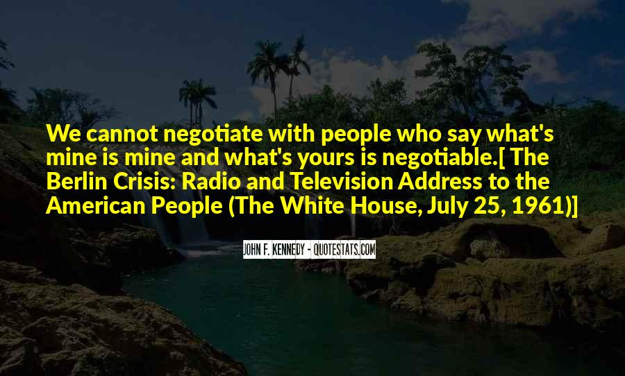 Quotes About Negotiate #623813