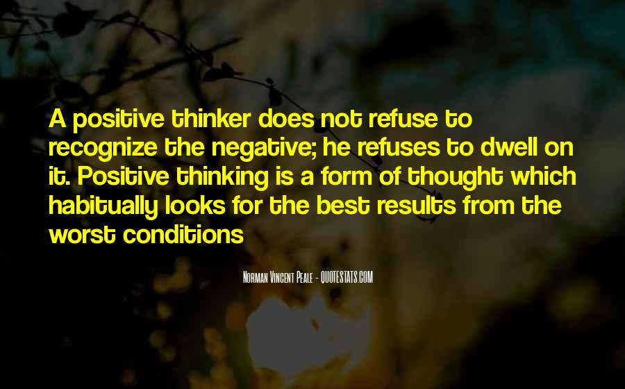 Quotes About Negative Thought #1483272