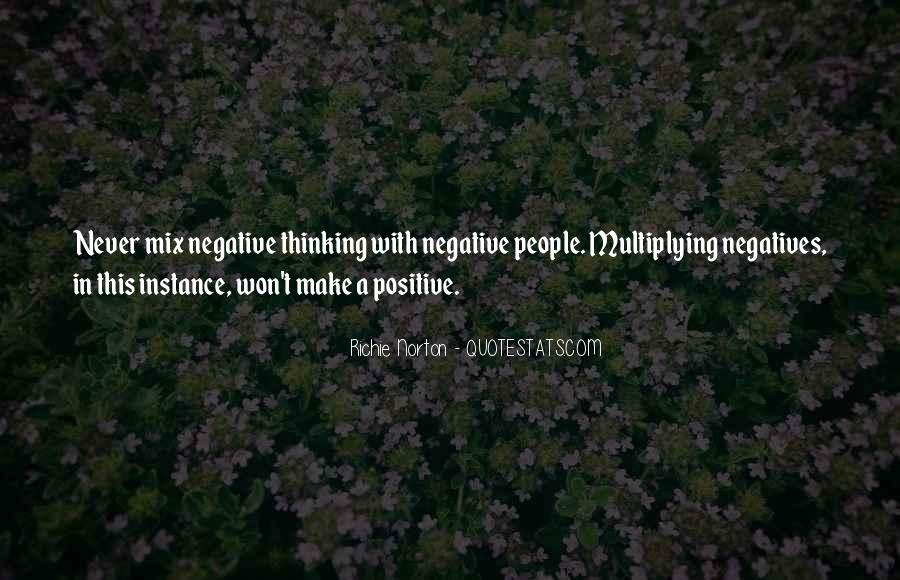 Quotes About Negative Thought #1547029
