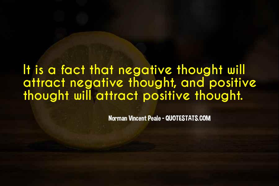 Quotes About Negative Thought #197166