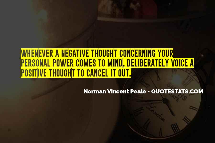 Quotes About Negative Thought #250210