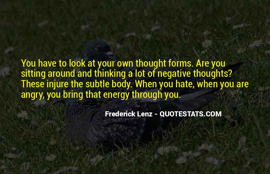 Quotes About Negative Thought #261326