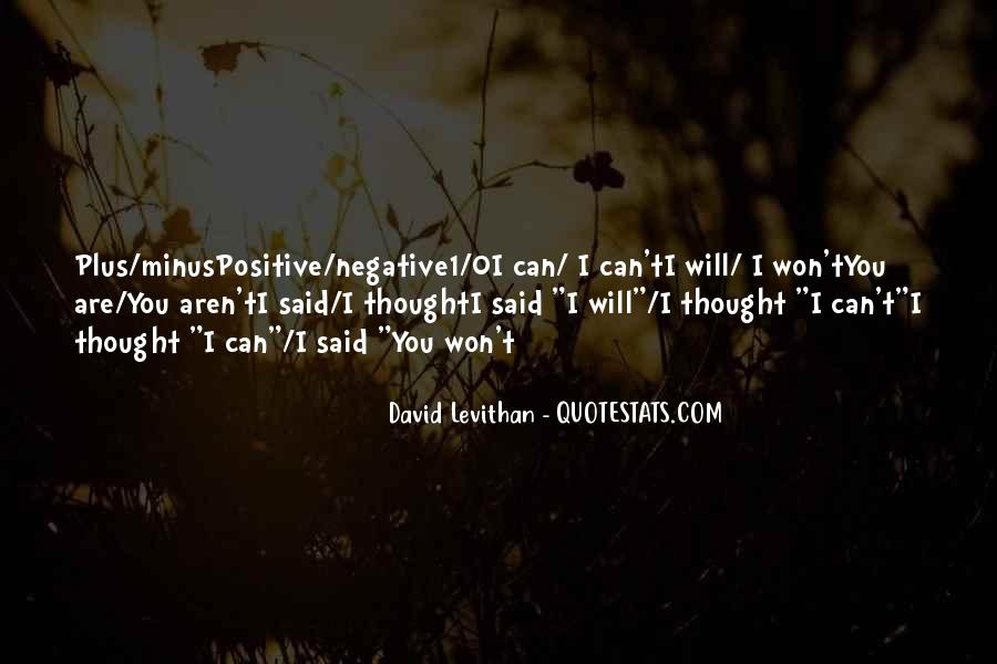 Quotes About Negative Thought #491089