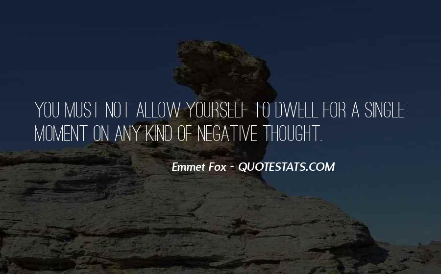 Quotes About Negative Thought #495235