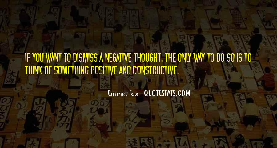 Quotes About Negative Thought #770122