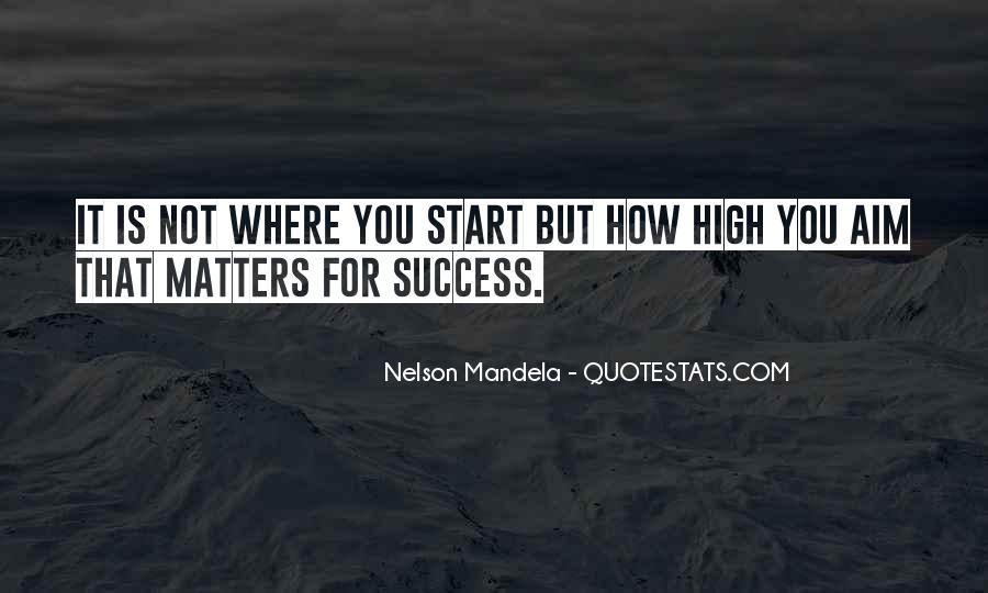 Aim For Success Quotes #78209