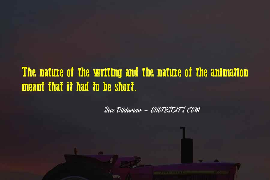 Quotes About Nature Writing #465537