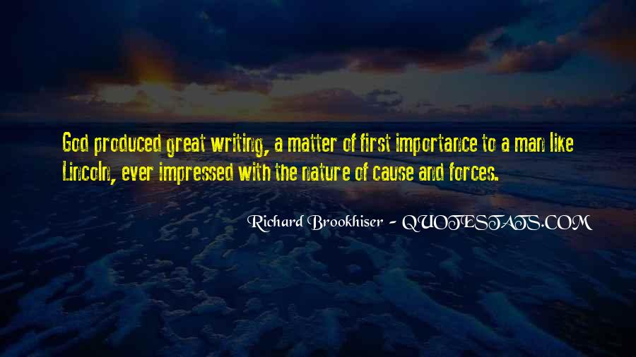 Quotes About Nature Writing #657051