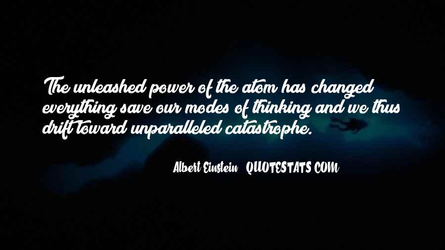 Albert Einstein Atom Quotes #1330692