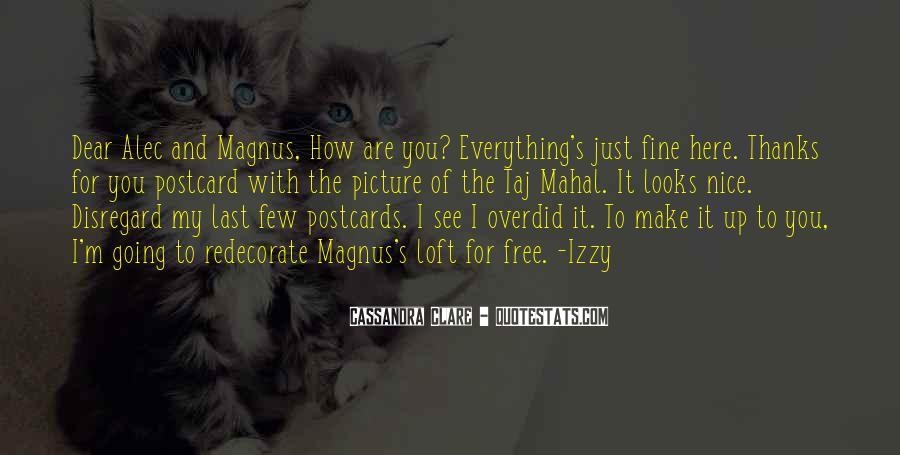Alec Magnus Quotes #1014149