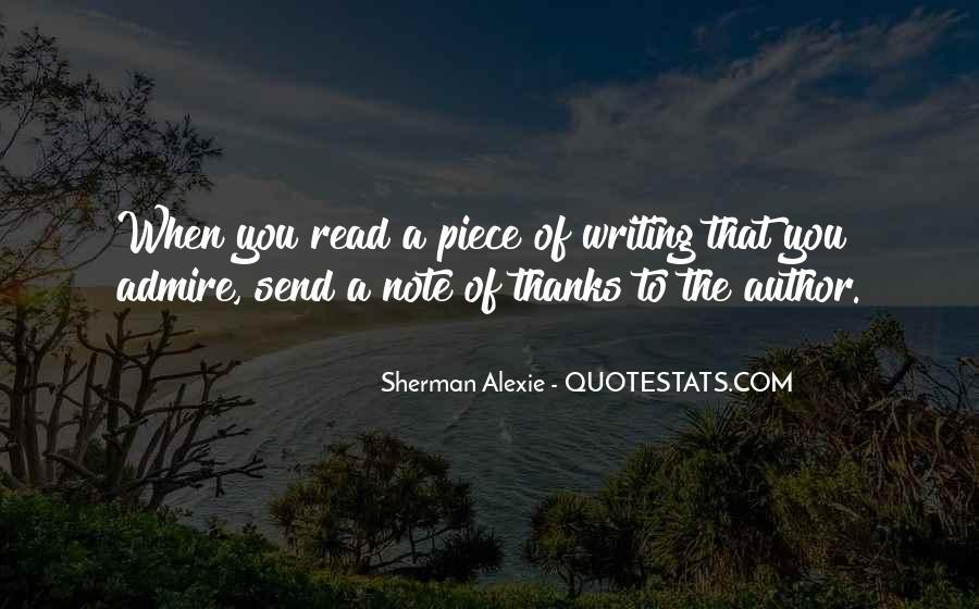 Alexie Sherman Quotes #303552
