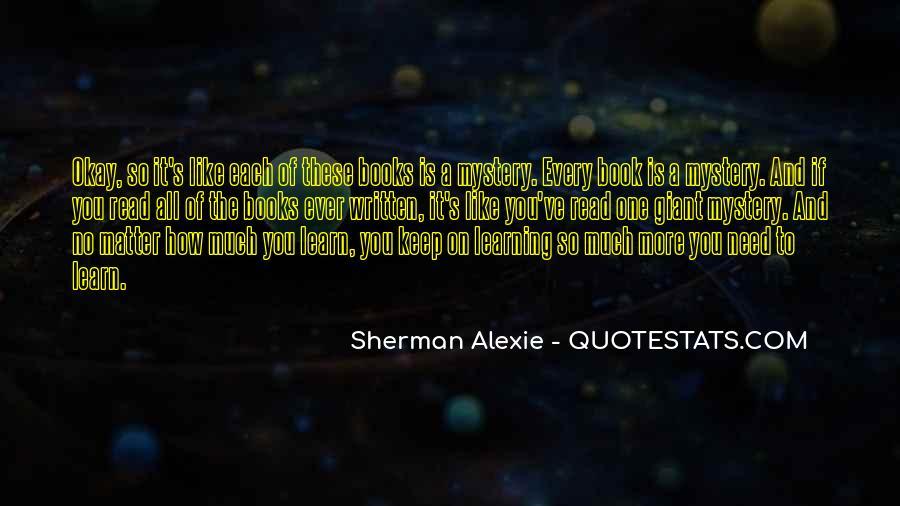 Alexie Sherman Quotes #379245