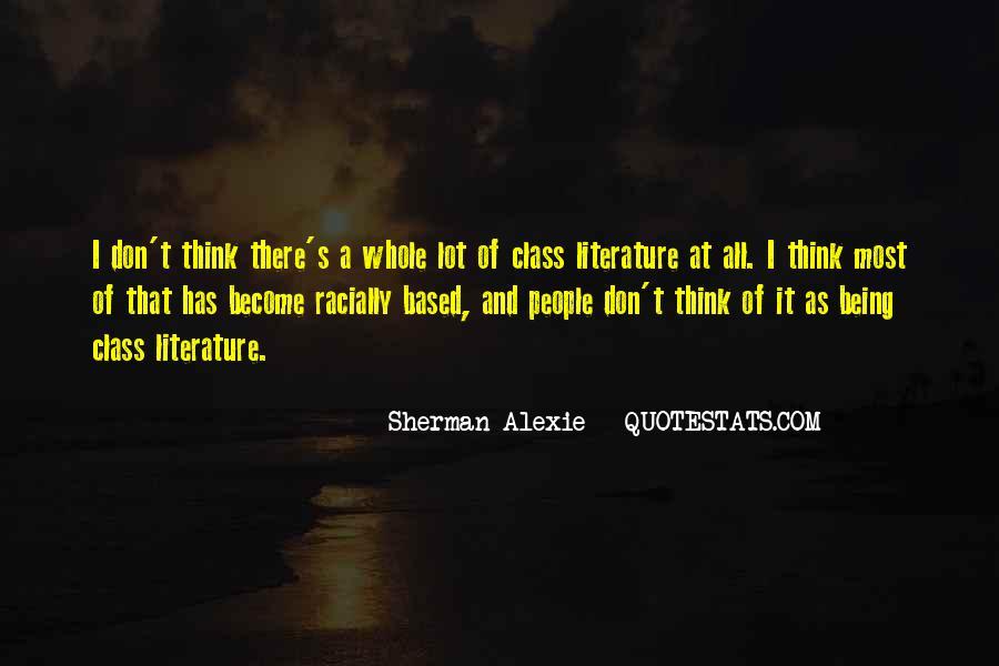 Alexie Sherman Quotes #397673