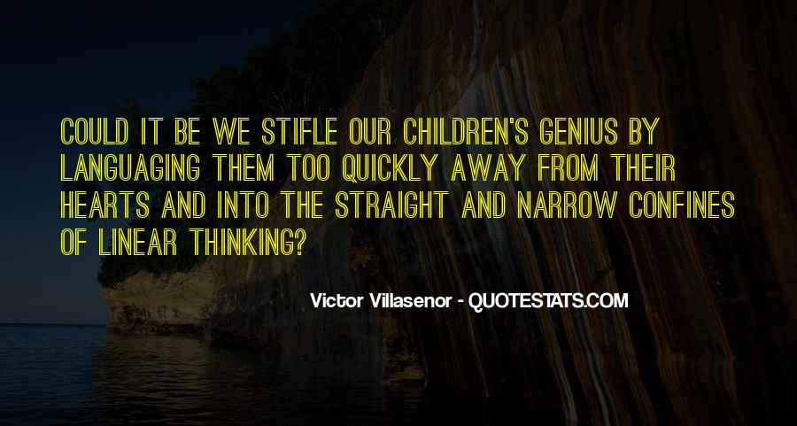 Quotes About Narrow Thinking #1366152