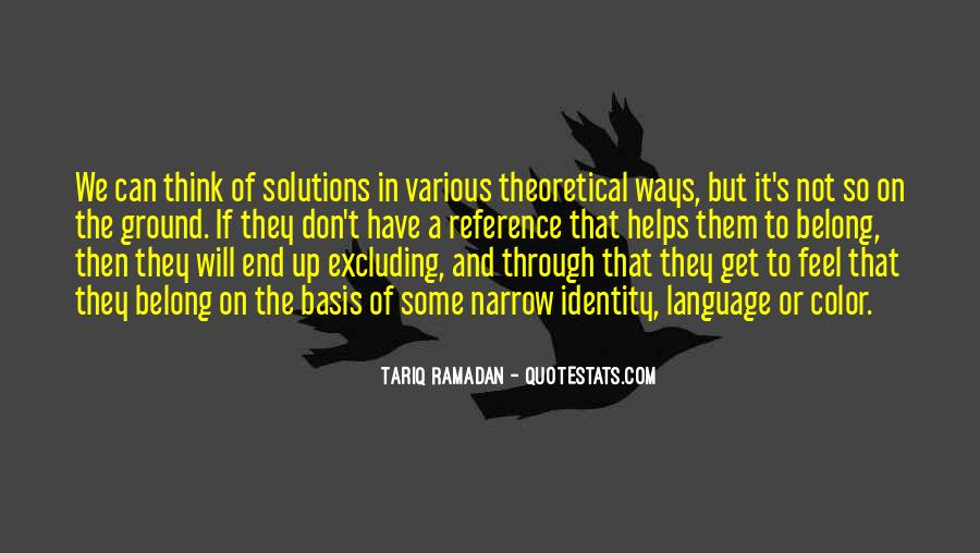 Quotes About Narrow Thinking #1619030