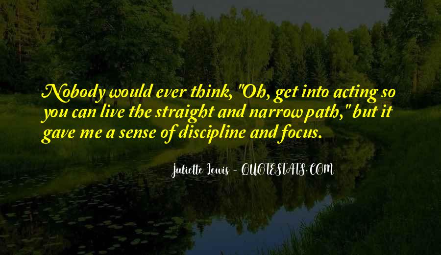 Quotes About Narrow Thinking #183516