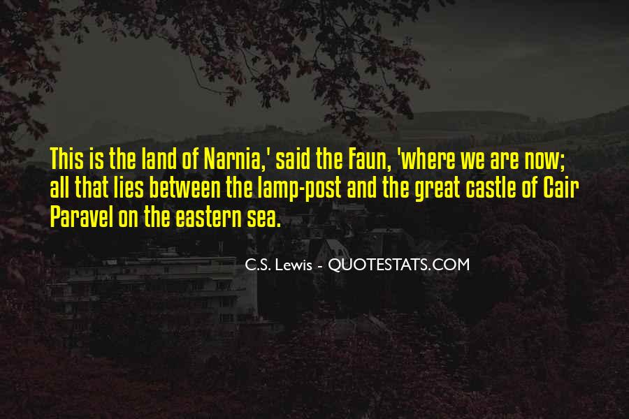 Quotes About Narnia The Lamp Post #548078
