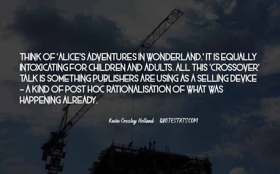 Alice's Adventures Wonderland Quotes #1516018