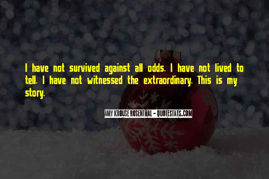 All Against Odds Quotes #128134