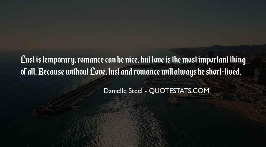 All Because Of Love Quotes #105686