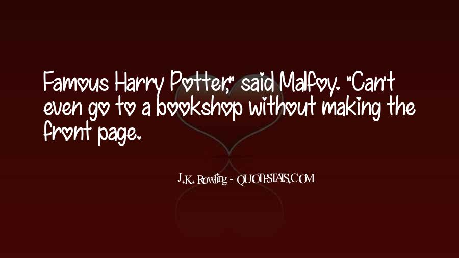 All Draco Malfoy Quotes #304965