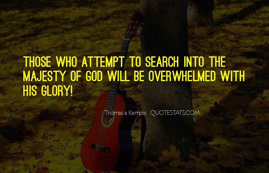 All For God's Glory Quotes #13915