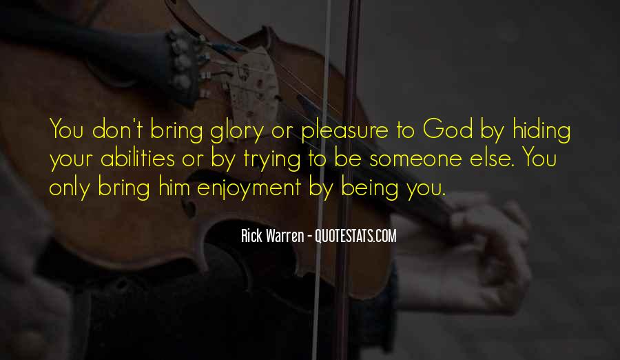 All For God's Glory Quotes #14745