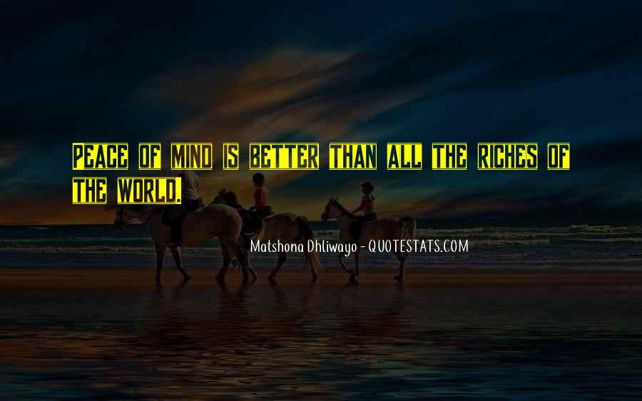 All The Riches In The World Quotes #523354