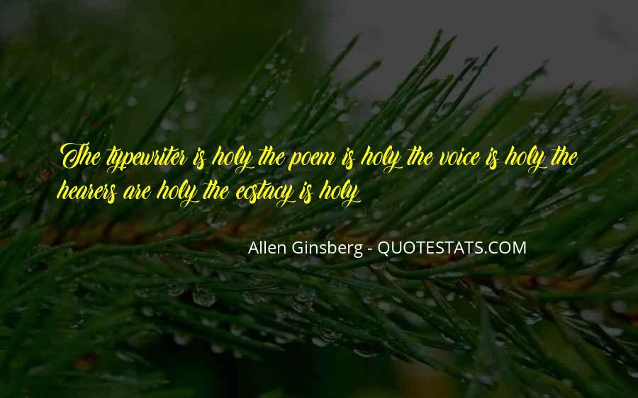 Allen Ginsberg Poem Quotes #17158