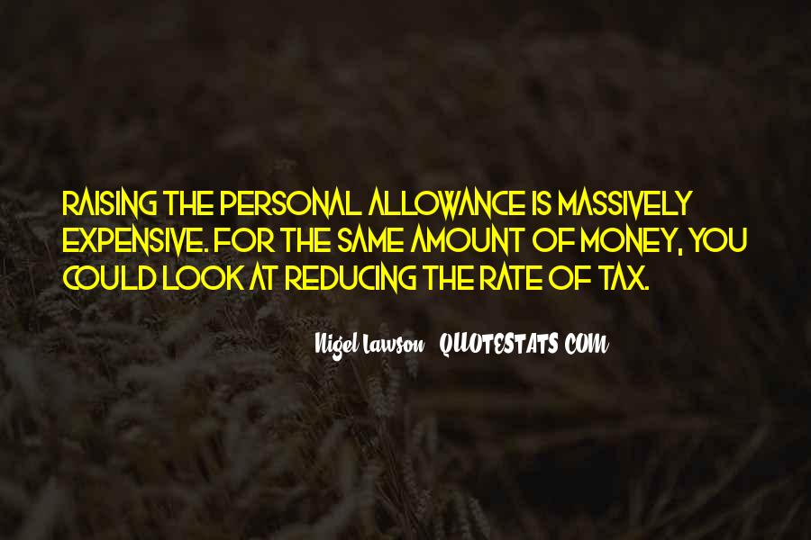 Allowance Quotes #103283
