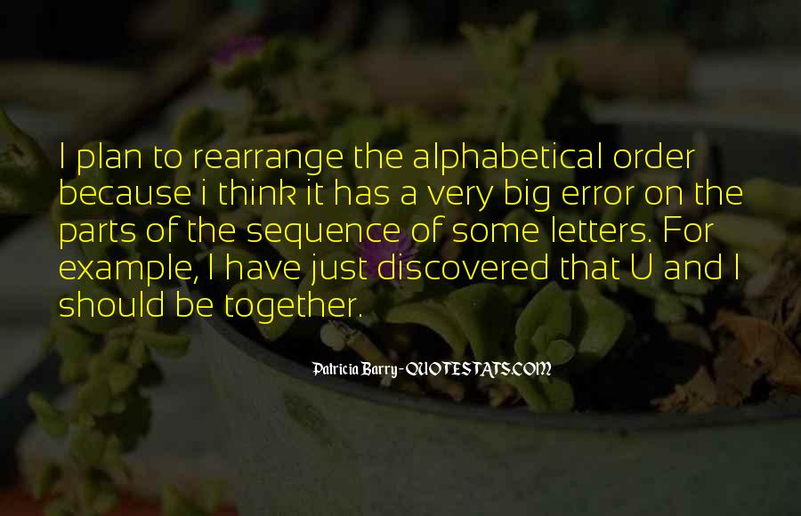 Alphabetical Quotes #348135
