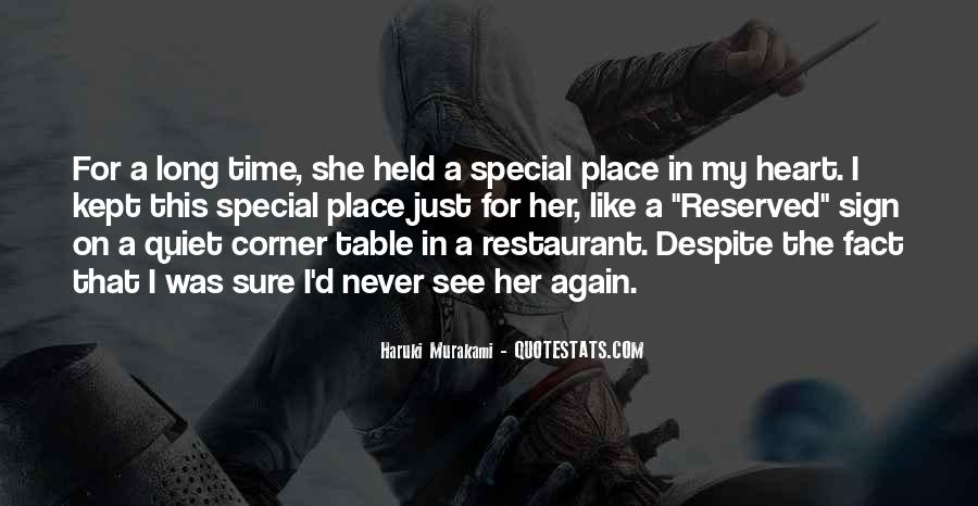 Quotes About My Special Place #1858860