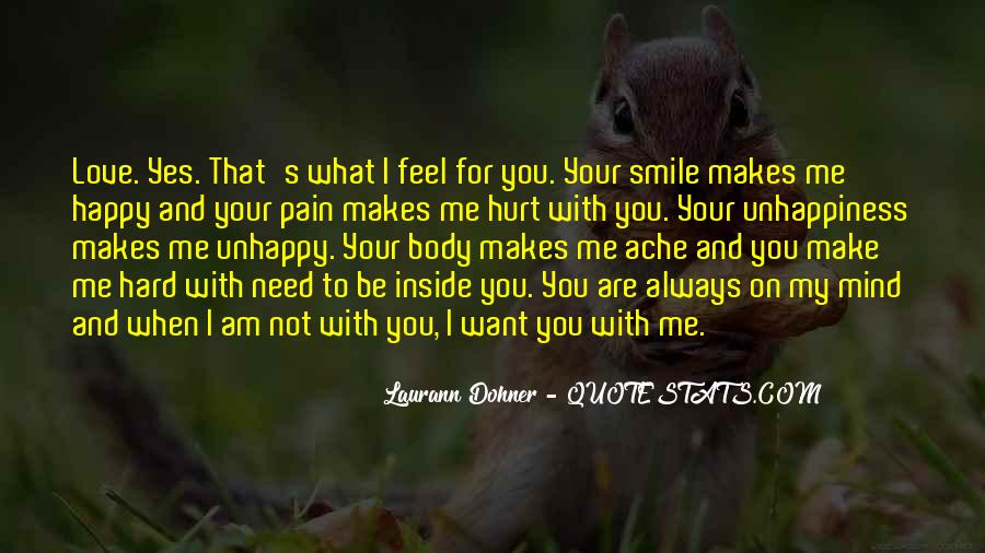 Am Happy With You Quotes #338090