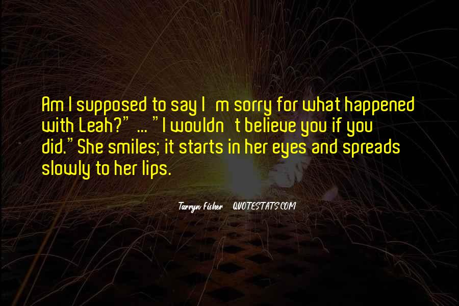 Am Sorry For Her Quotes #1190805