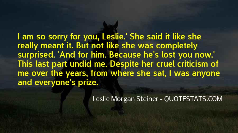 Am Sorry For Her Quotes #151717