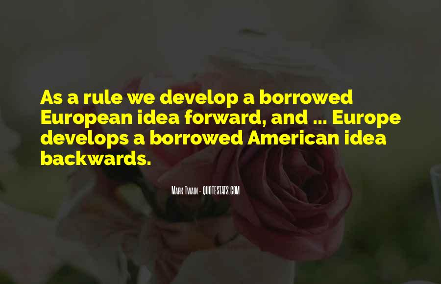 American And European Quotes #1021767