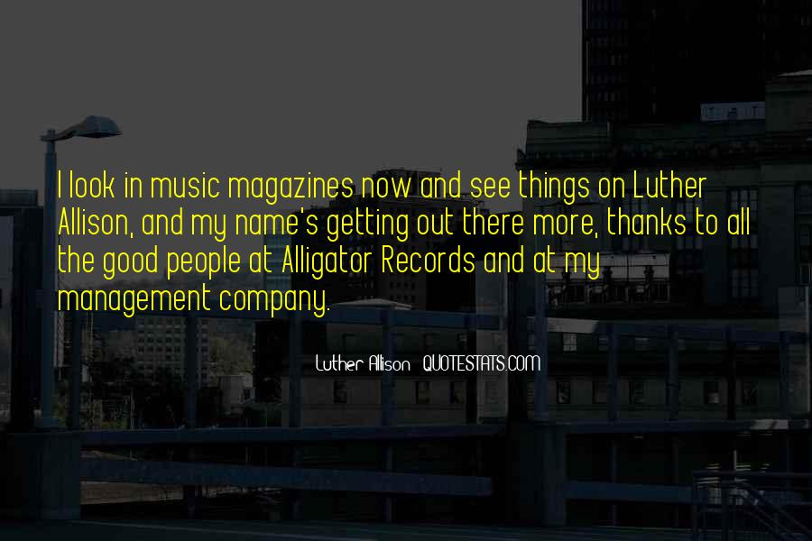 Quotes About Music Management #102130