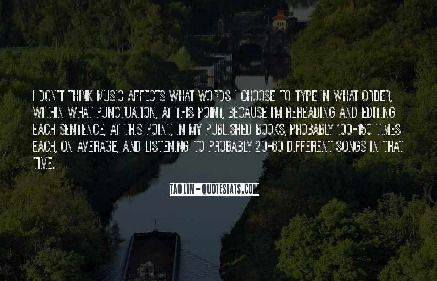 Quotes About Music And Books #137700