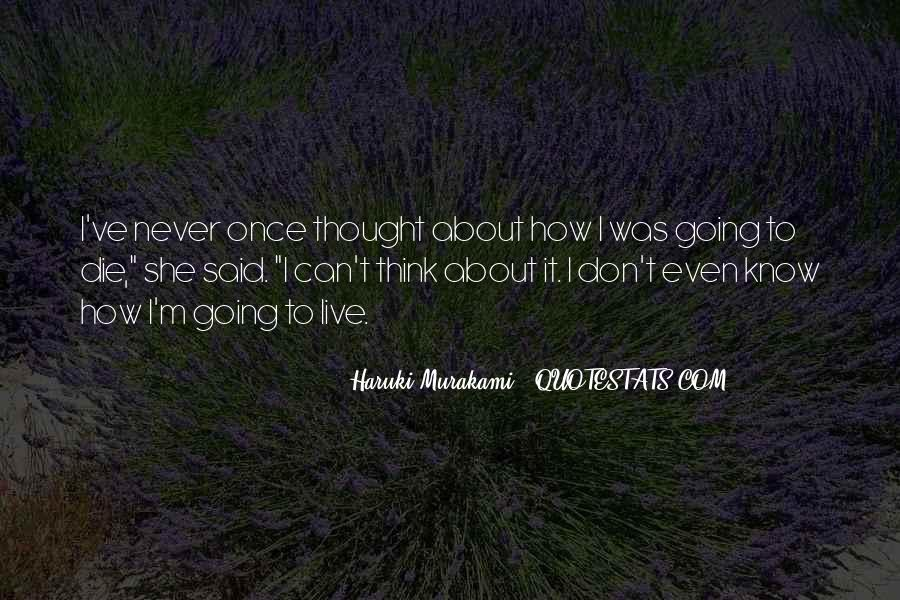 Quotes About Murakami Death #527903