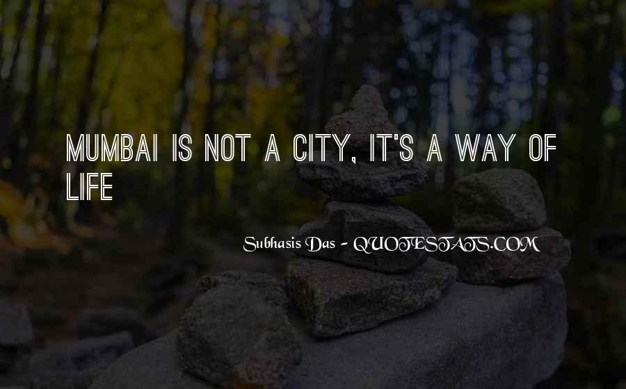 Quotes About Mumbai City #269773