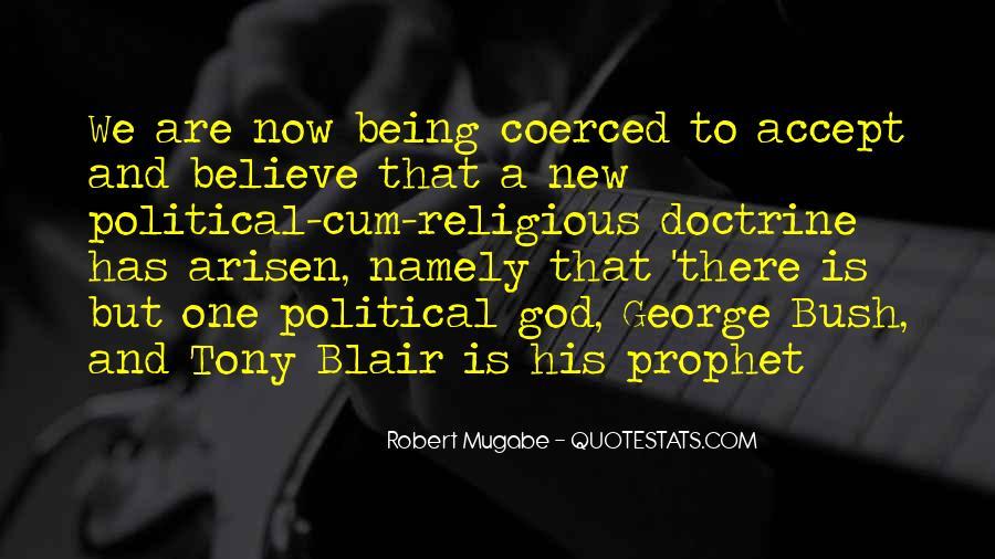 Quotes About Mugabe Bush #144544