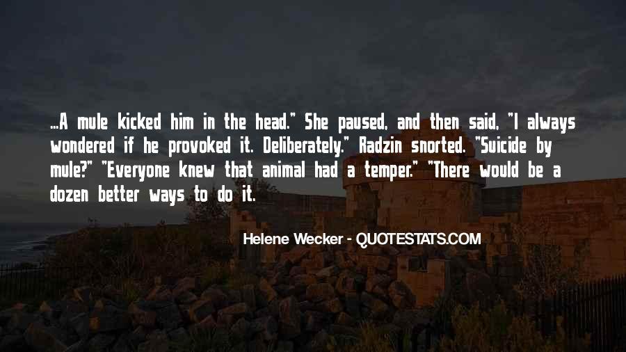 Animal Head Quotes #22358