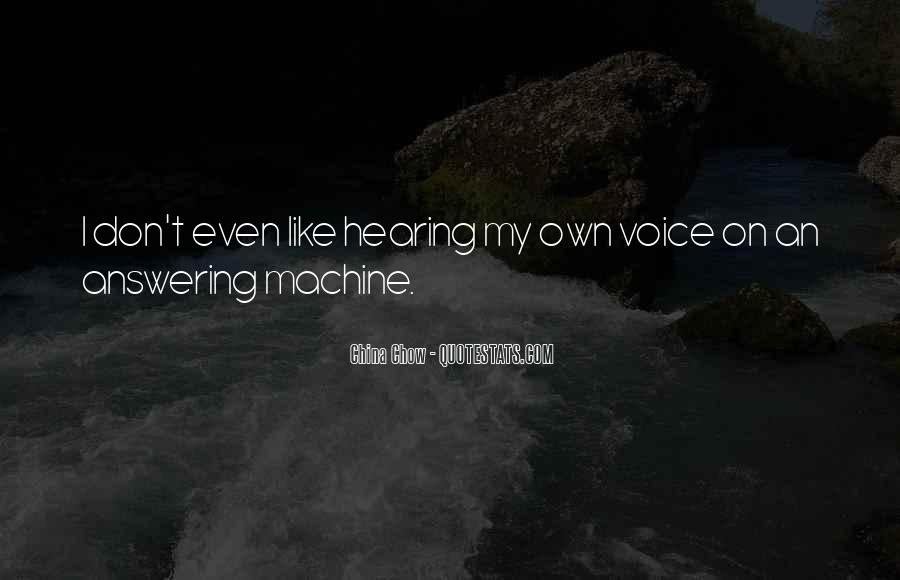 Answering Machine Quotes #255827