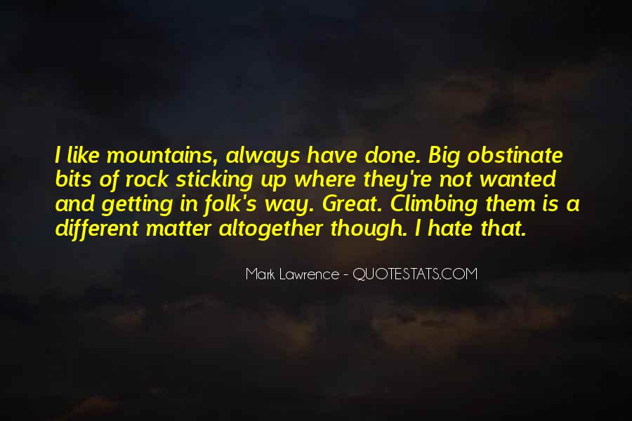 Quotes About Mountains Funny #698968