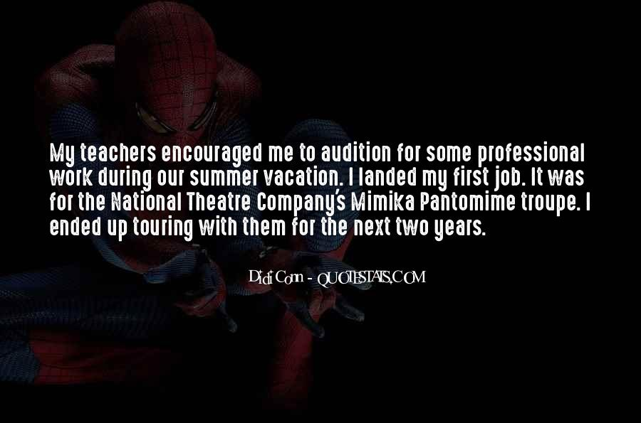 Quotes About Theatre Teachers #861332