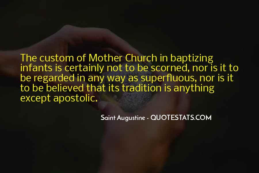 Apostolic Church Quotes #1181757